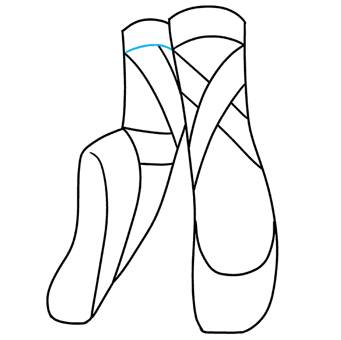 How to Draw Ballet Shoes: Step 9
