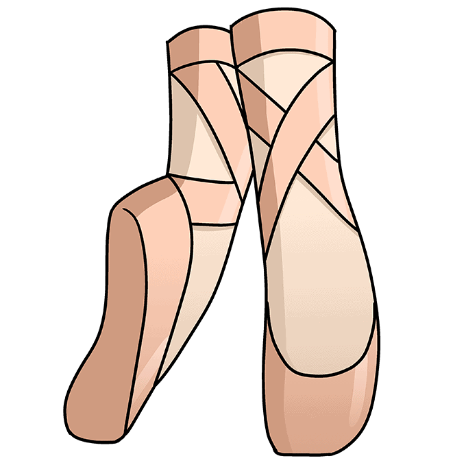 How to Draw Ballet Shoes: Step 10
