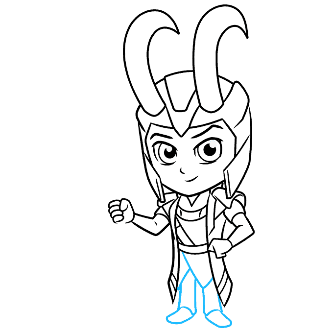 How to Draw Chibi Loki: Step 8