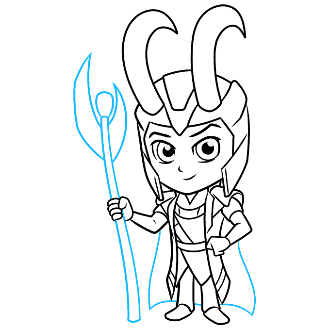 How to Draw Chibi Loki: Step 9