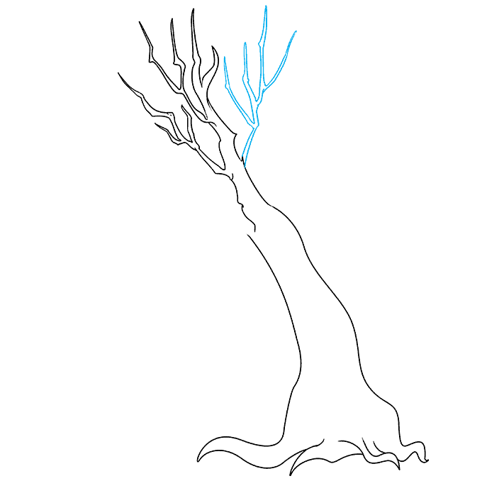 How to Draw a Dead Tree Step 04