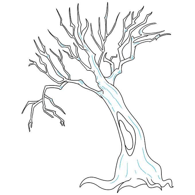How to Draw a Dead Tree Step 09