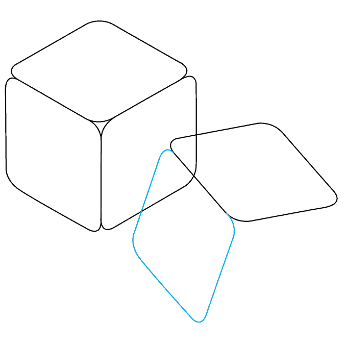 How to Draw Dice: Step 5