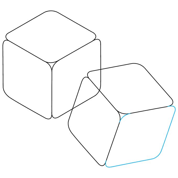 How to Draw Dice: Step 6