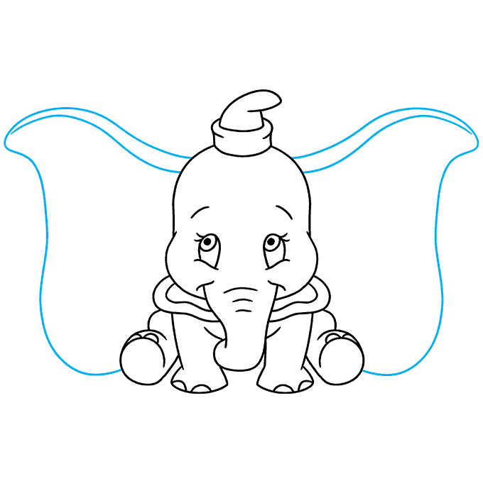 How to Draw Dumbo: Step 9