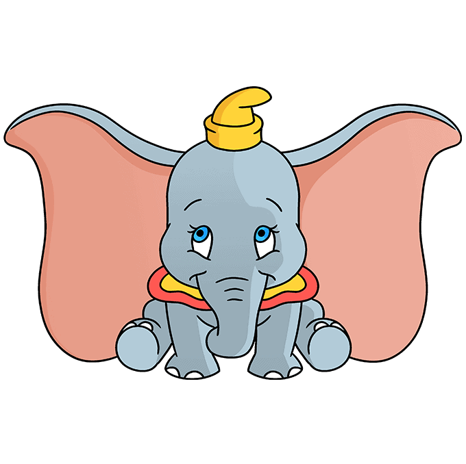 How to Draw Dumbo: Step 10