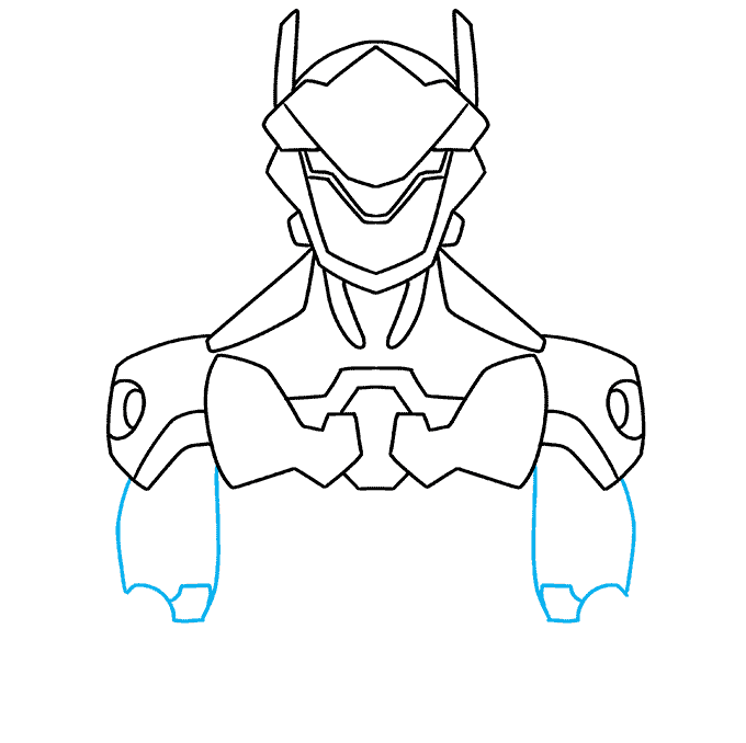 How to Draw Genji from Overwatch: Step 5