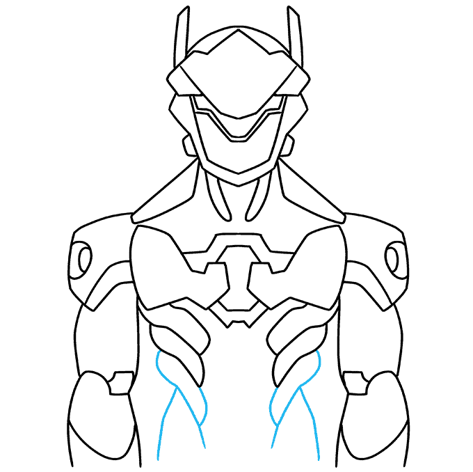How to Draw Genji from Overwatch: Step 8