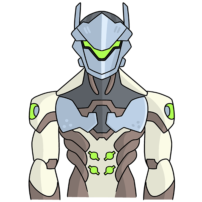 How to Draw Genji from Overwatch: Step 10
