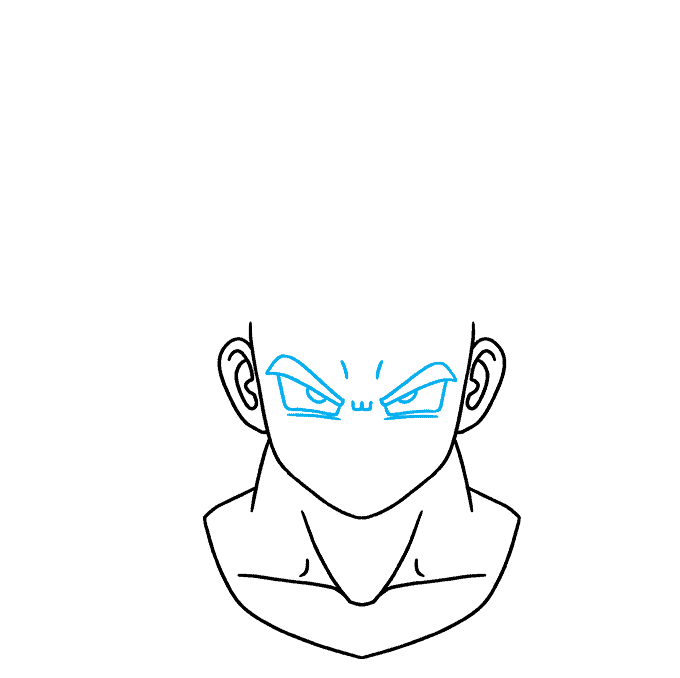 How to Draw Goku Ultra Instinct: Step 4