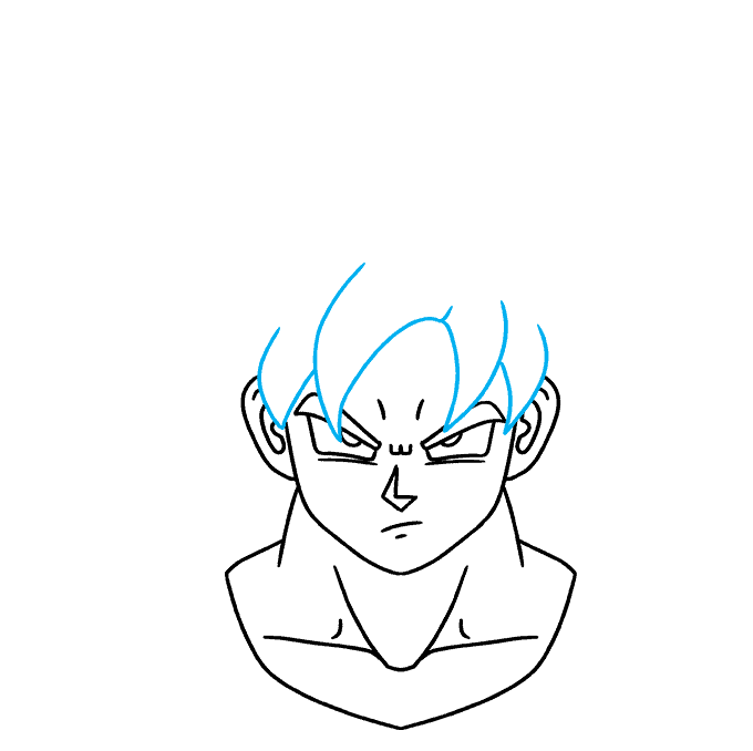 How to Draw Goku Ultra Instinct: Step 7