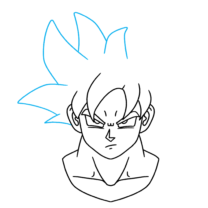 How to Draw Goku Ultra Instinct: Step 8