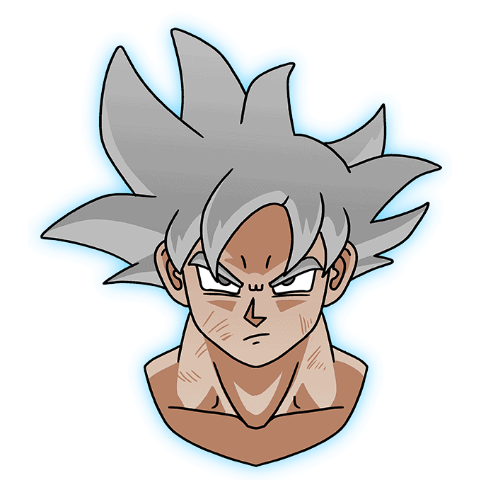 How to Draw Goku Ultra Instinct: Step 10