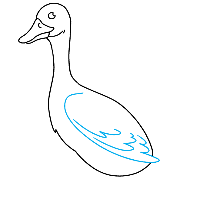 How to Draw Goose: Step 6