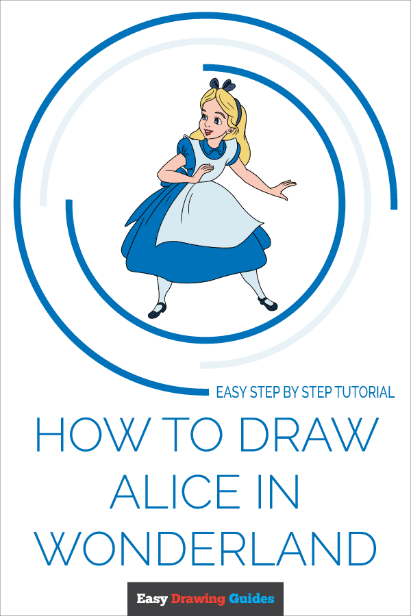 How to Draw Alice in Wonderland | Share to Pinterest