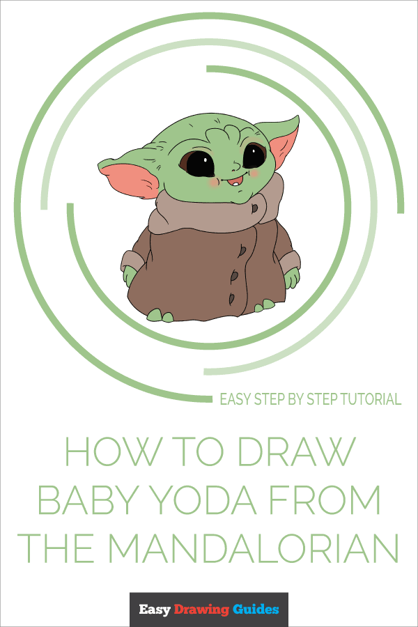 How to Draw Baby Yoda from the Mandalorian | Share to Pinterest