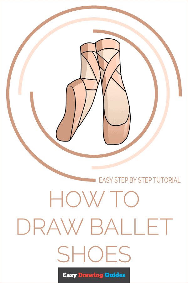 How to Draw Ballet Shoes | Share to Pinterest