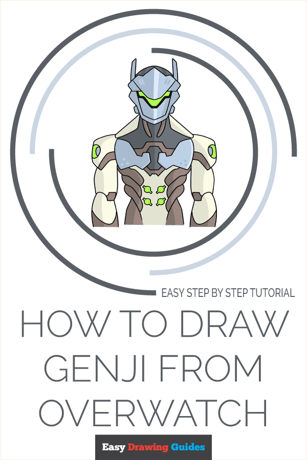How to Draw Genji from Overwatch | Share to Pinterest