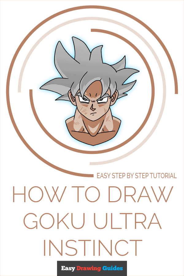 How to Draw Goku Ultra Instinct | Share to Pinterest