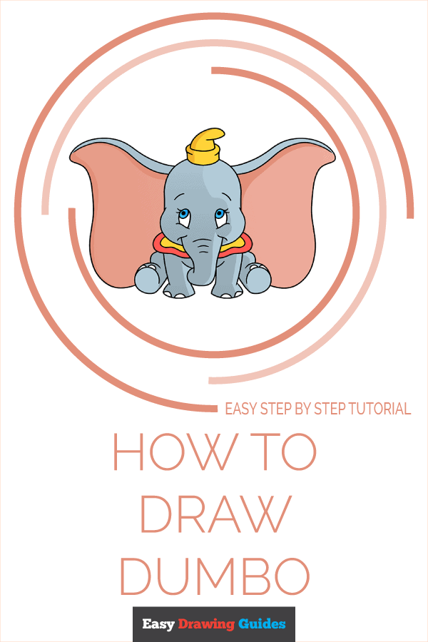 How to Draw Dumbo | Share to Pinterest