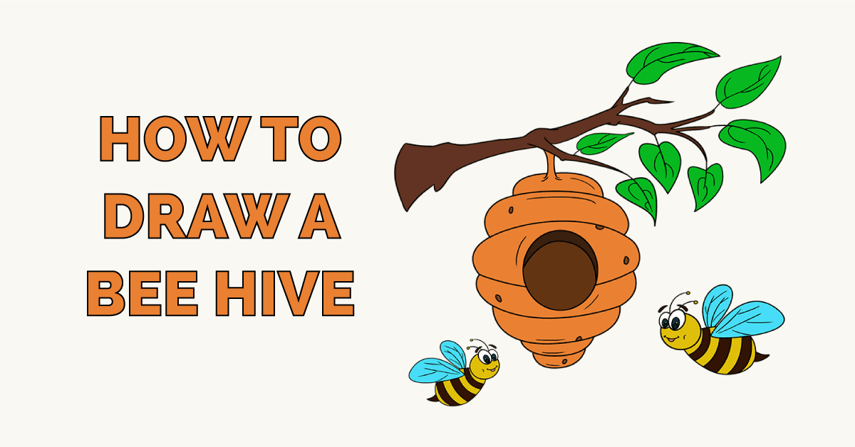 How to Draw a Bee Hive Featured Image