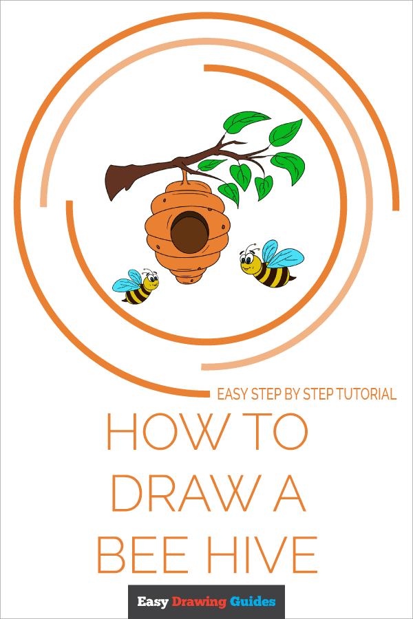 How to Draw a Bee Hive Pinterest Image