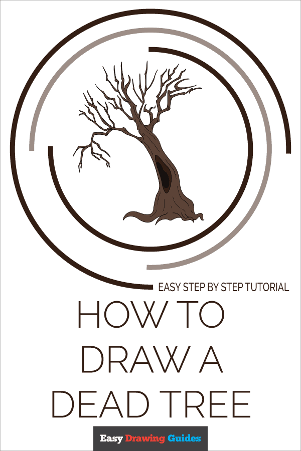 How to Draw a Dead Tree Pinterest Image