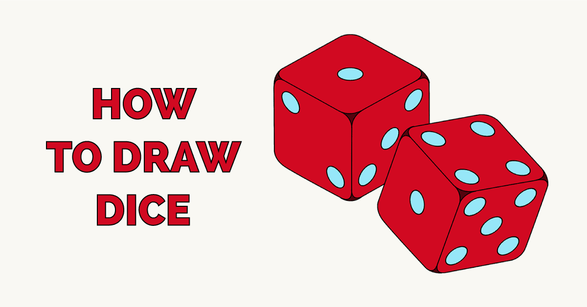 How to Draw Dice Featured Image