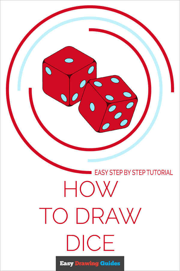 How to Draw Dice | Share to Pinterest