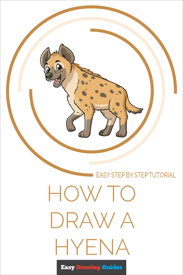 How to draw a Hyena - pinterest image