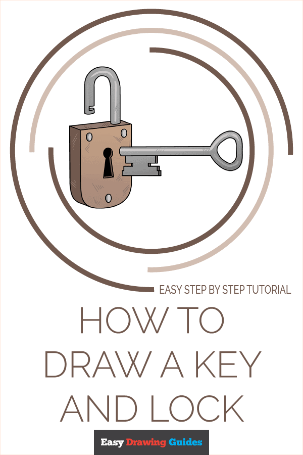 How to Draw Key and Lock | Share to Pinterest