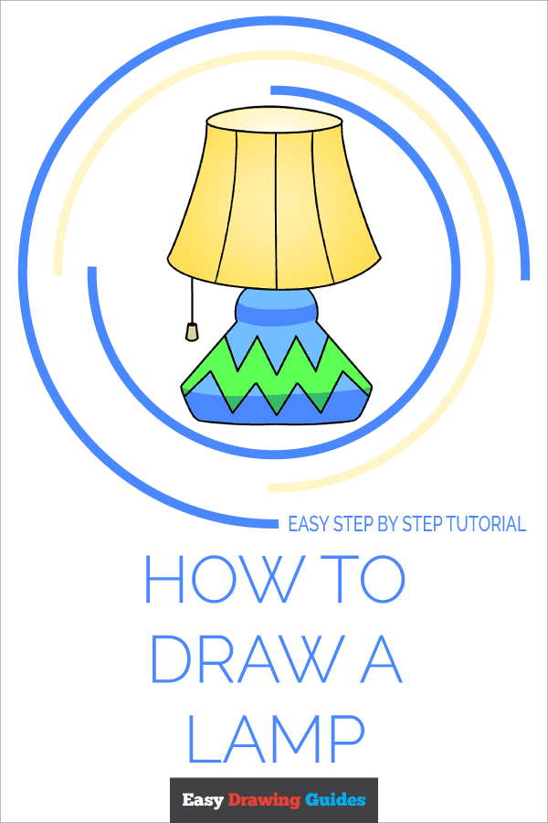 How to Draw Lamp | Share to Pinterest