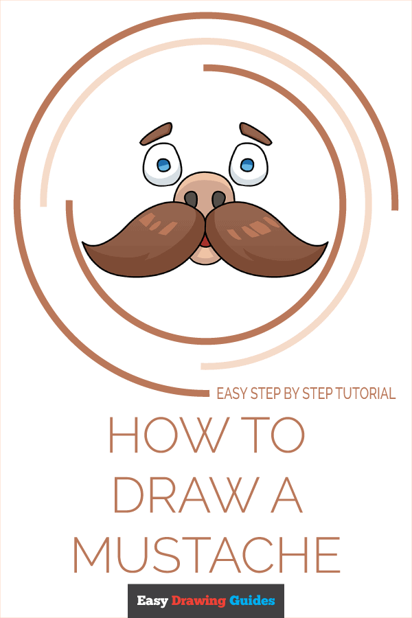 How to Draw Mustache | Share to Pinterest
