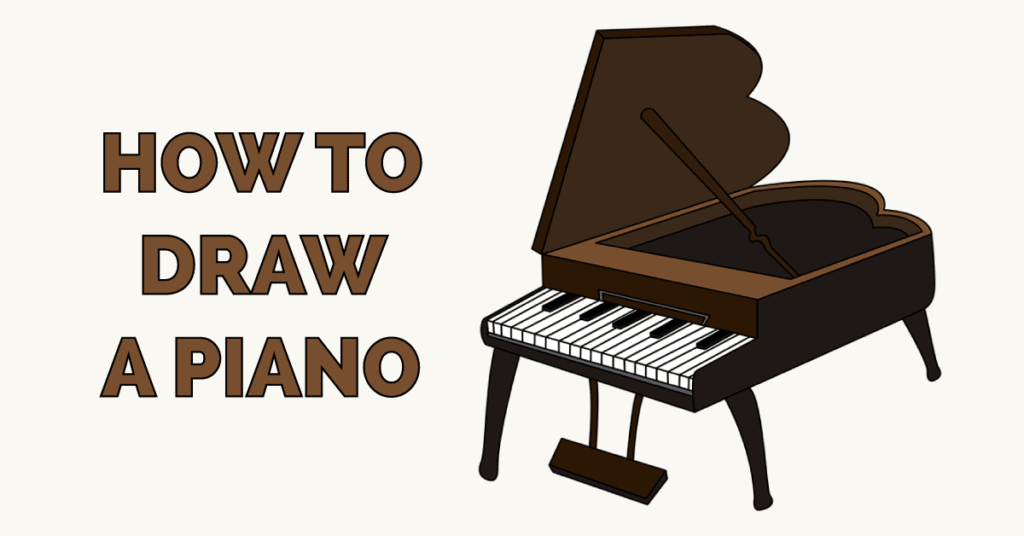 How To Draw A Piano Really Easy Drawing Tutorial