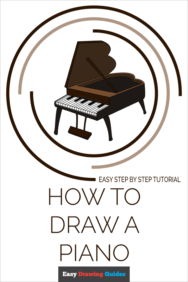 How to Draw Piano | Share to Pinterest