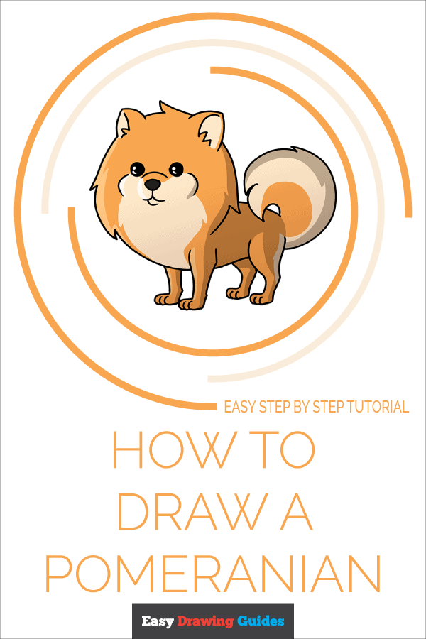 How to Draw a Pomeranian Pineterest Image