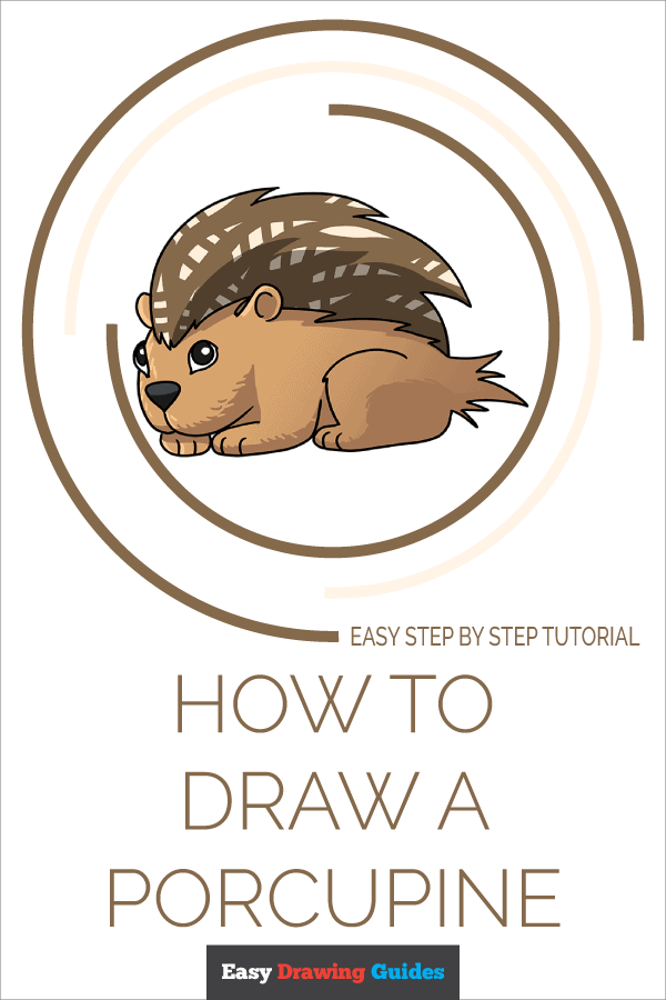 How to Draw a Porcupine Pinterest Image