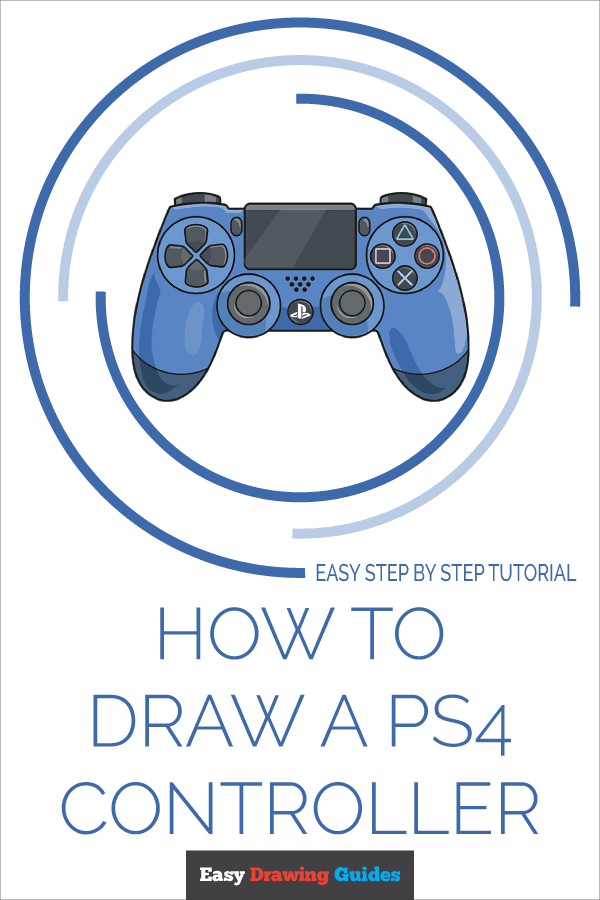 How to Draw PS4 Controller | Share to Pinterest
