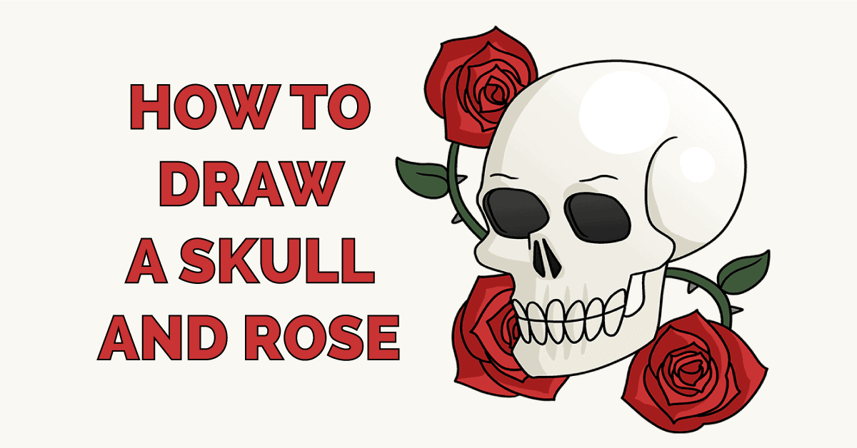 How to Draw a Skull and Rose Featured Image