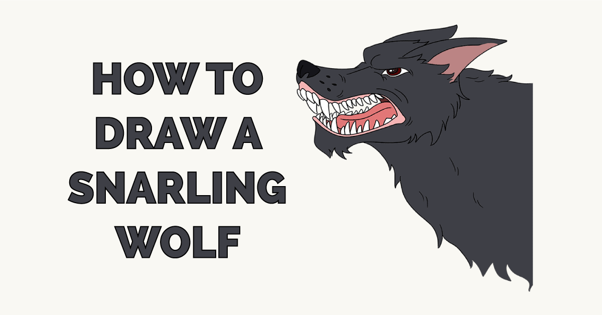 How to Draw a Snarling Wolf Featured Image