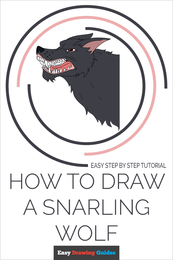 How to Draw Snarling Wolf | Share to Pinterest