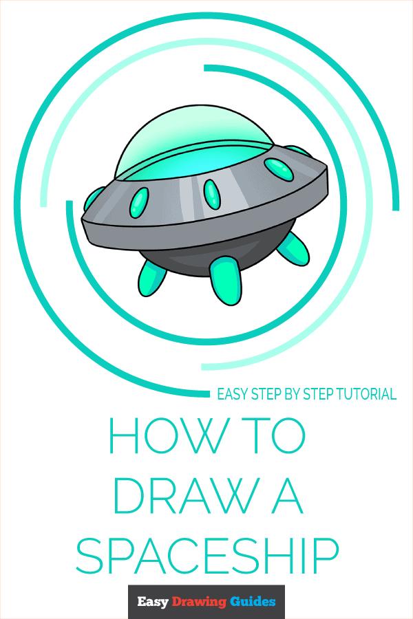 How to Draw a Spaceship Pinterest Image