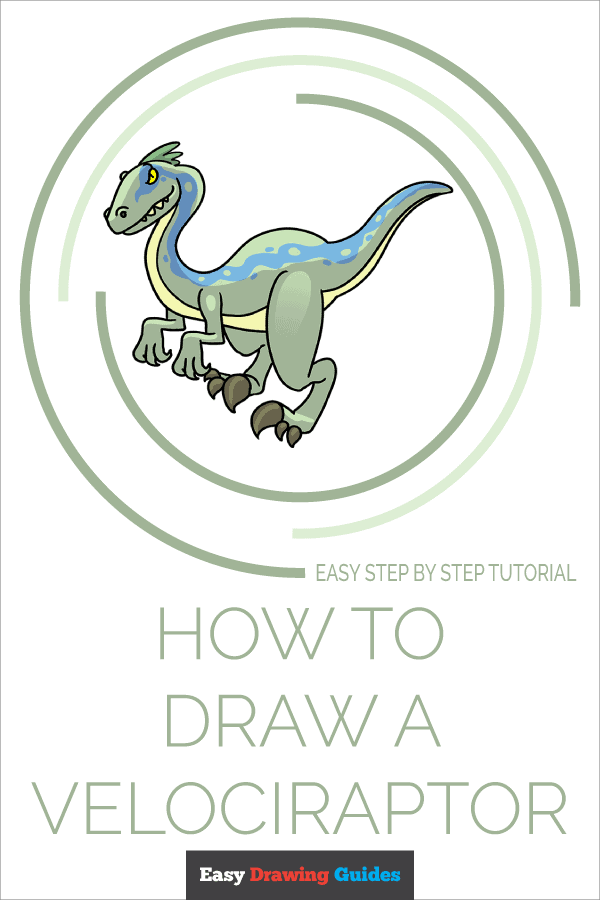 How to Draw Velociraptor | Share to Pinterest