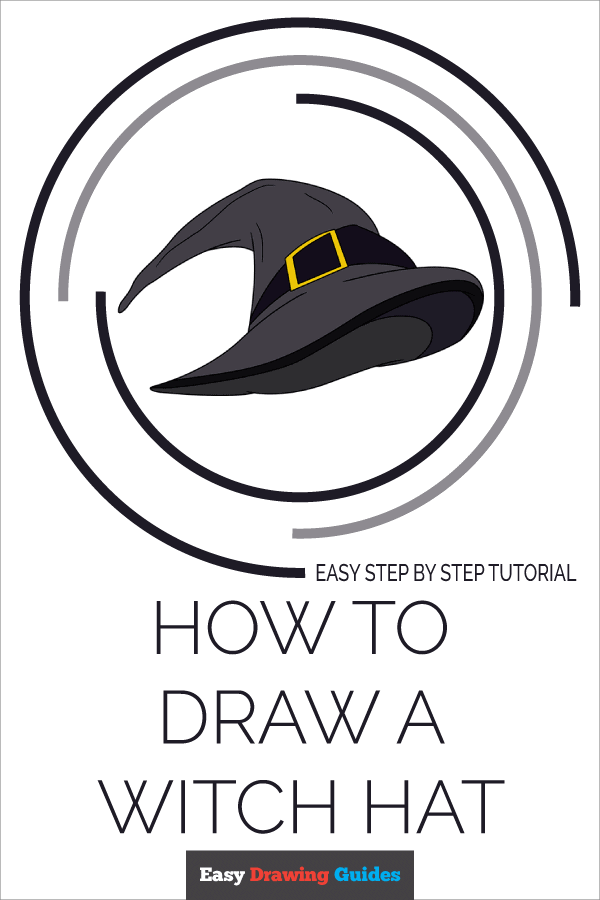 How to Draw a Witch Hat Pinterest Image