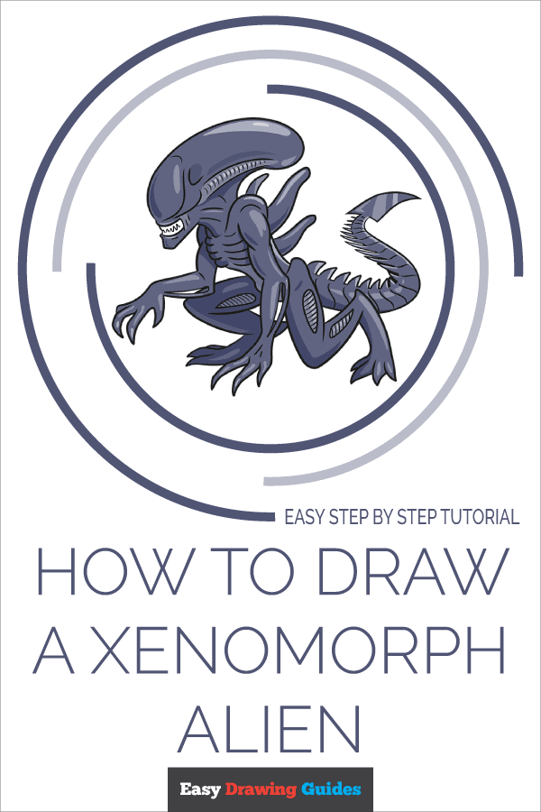 How to Draw a Xenomorph Alien Pinterest Image