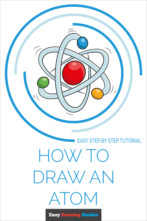 How to Draw Atom | Share to Pinterest