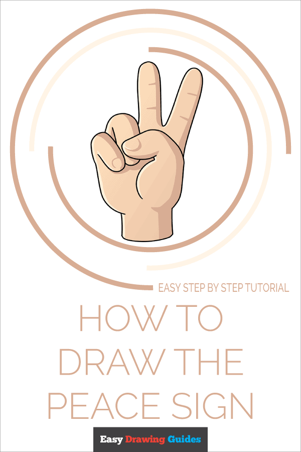How to Draw the Peace Sign Pinterest Image