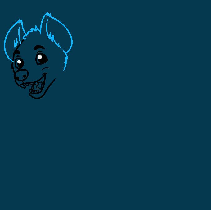 How to Draw Hyena: Step 4