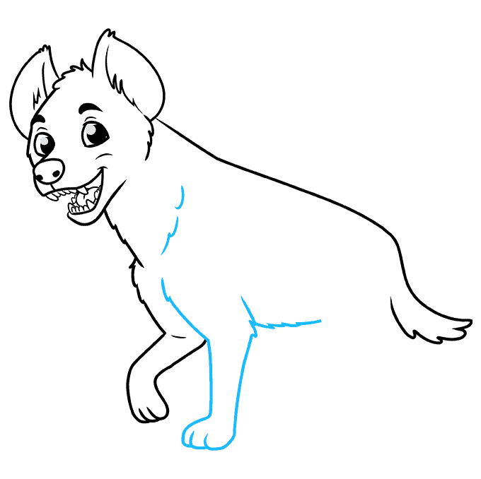 How to Draw a Hyena Step 07