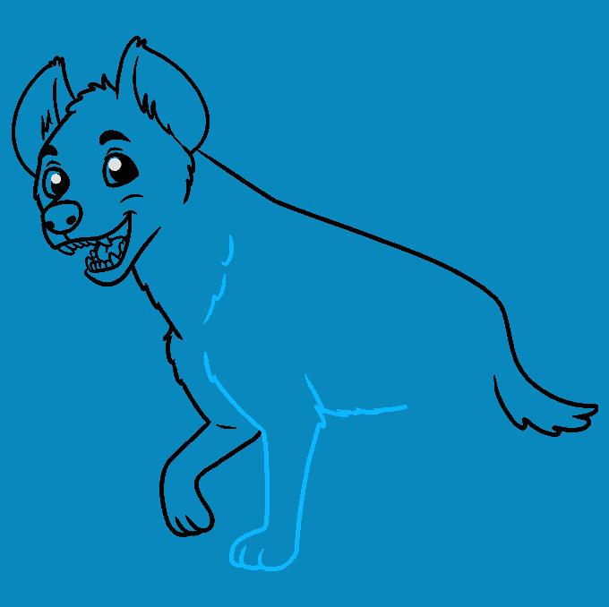 How to Draw Hyena: Step 7
